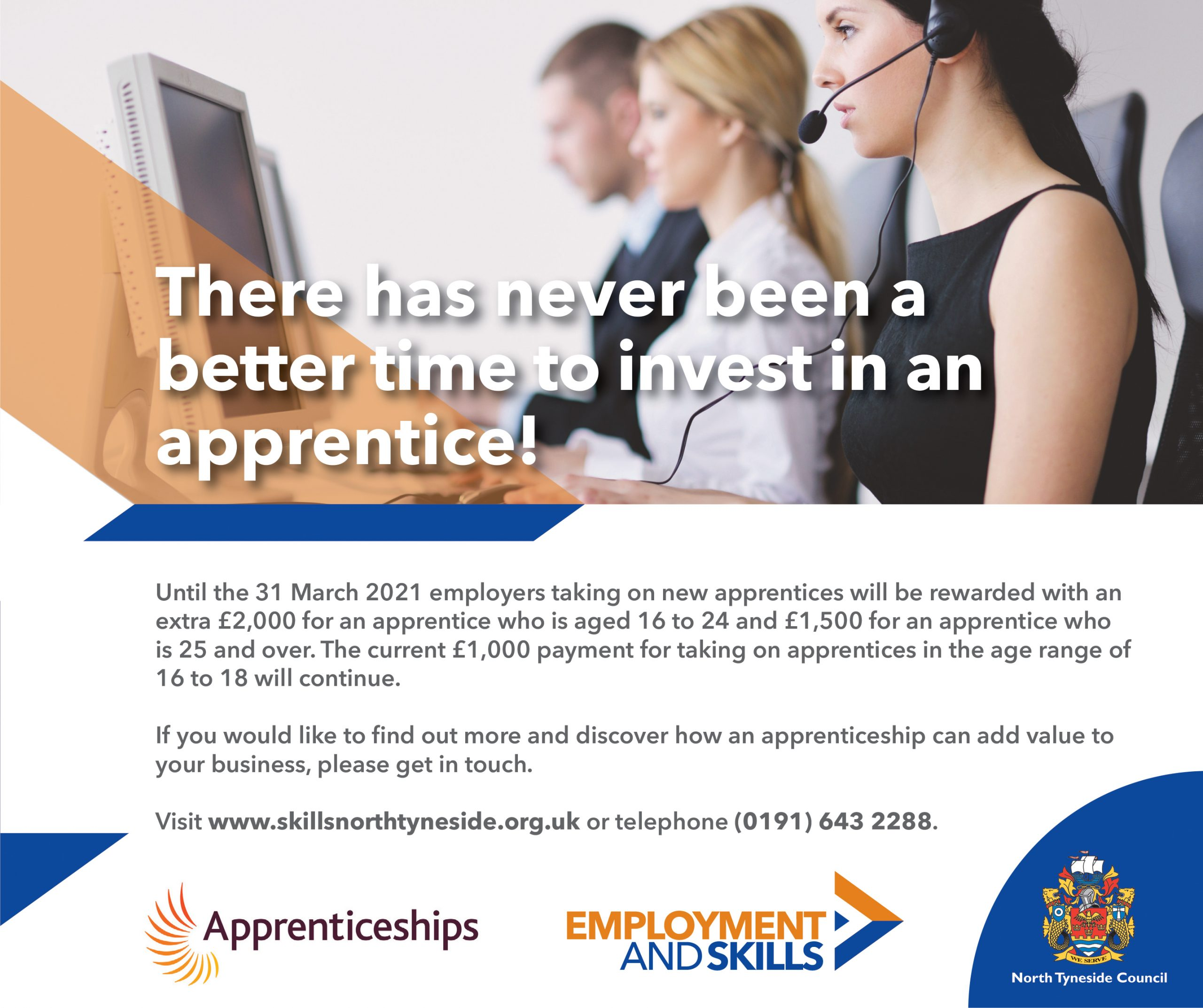 Extension to increased apprenticeship funding!